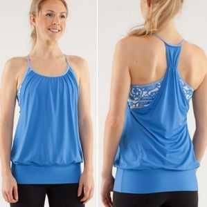"Lululemon ""no limits"" racerback yoga tank top"